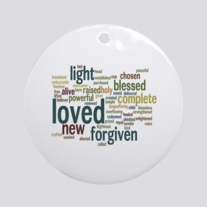 Who I am in Christ Teal Ornament (Round)