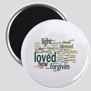 Who I am in Christ Teal Magnet