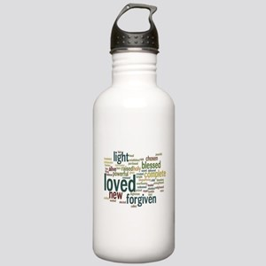 Who I am in Christ Teal Stainless Water Bottle 1.0