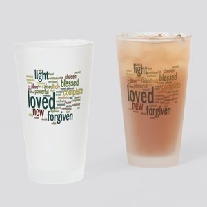 Who I am in Christ Teal Drinking Glass