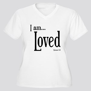 I am Loved Romans 5:8 Women's Plus Size V-Neck T-S