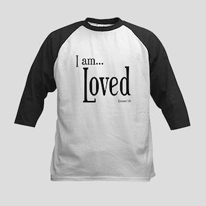 I am Loved Romans 5:8 Kids Baseball Jersey
