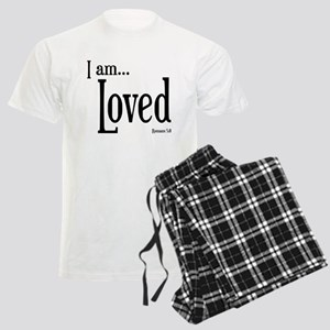 I am Loved Romans 5:8 Men's Light Pajamas