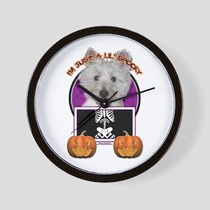 Halloween Just a Lil Spooky Westie Wall Clock