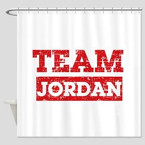 Team Jordan Shower Curtain