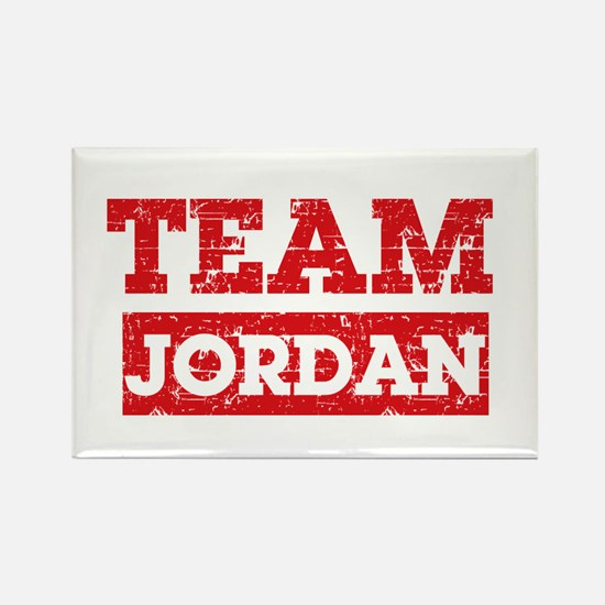 Team Jordan Rectangle Magnet
