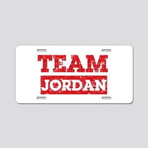 Team Jordan Aluminum License Plate