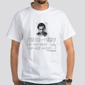ramanujan and his equations White T-Shirt