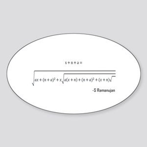 ramanujan equation Sticker (Oval)