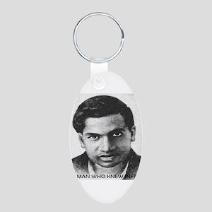 man who knew infinity Aluminum Oval Keychain