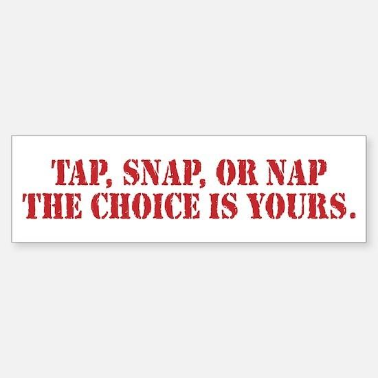 Tap Snap Or Nap Ultimate Fighting Gear Bumper Bumper Sticker