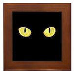 Amber Cat Eyes Framed Tile