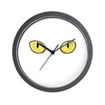 Amber Cat Eyes Wall Clock