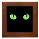 Green Cat Eyes Framed Tile