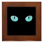 Blue Cat Eyes Framed Tile