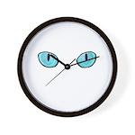 Blue Cat Eyes Wall Clock