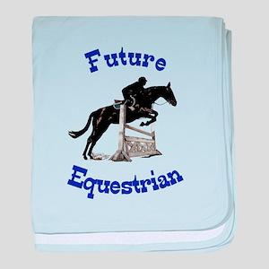 Cute Future Equestrian Horse baby blanket