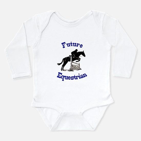 Cute Future Equestrian Horse Long Sleeve Infant Bo