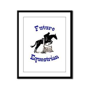 Cute Future Equestrian Horse Framed Panel Print