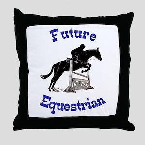 Cute Future Equestrian Horse Throw Pillow
