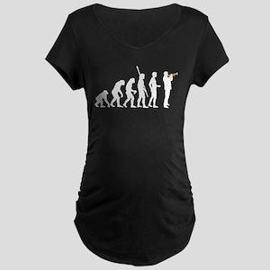 evolution trumpet player Maternity Dark T-Shirt