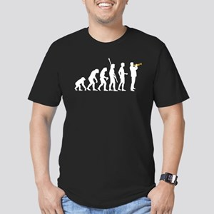 evolution trumpet player Men's Fitted T-Shirt (dar