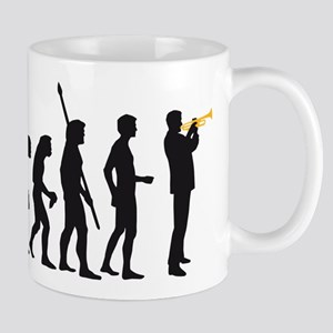 evolution trumpet player Mug