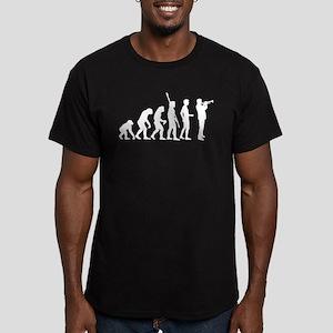 evolution trumpet player Men's Fitted T-Shirt (dar
