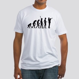 evolution trumpet player Fitted T-Shirt