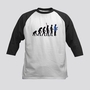evolution uniformed man Kids Baseball Jersey
