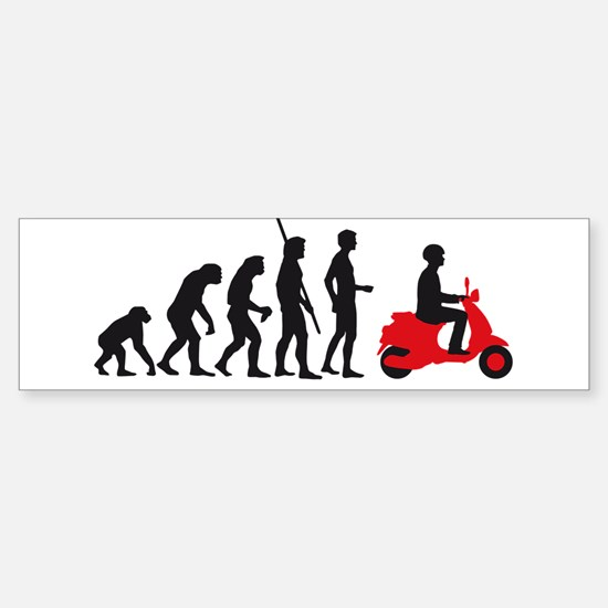 evolution scooter Sticker (Bumper)