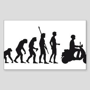 evolution scooter Sticker (Rectangle)