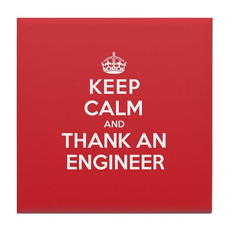 K C Thank Engineer Tile Coaster