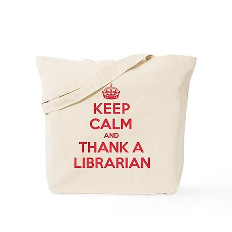 K C Thank Librarian Tote Bag