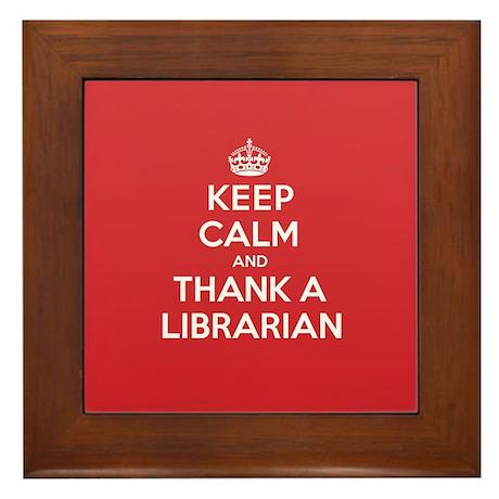 K C Thank Librarian Framed Tile