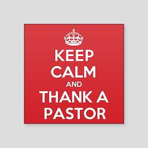 "K C Thank Pastor Square Sticker 3"" x 3"""