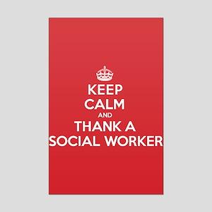 K C Thank Social Worker Mini Poster Print