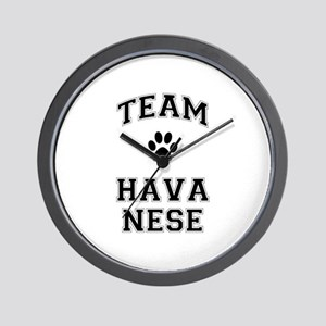 Team Havanese Wall Clock