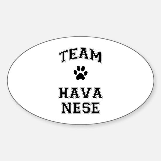 Team Havanese Sticker (Oval)