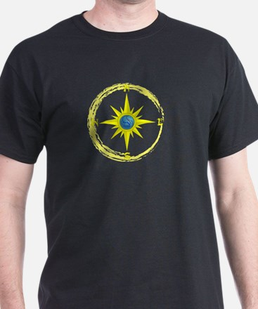Compass Rose Black T-Shirt