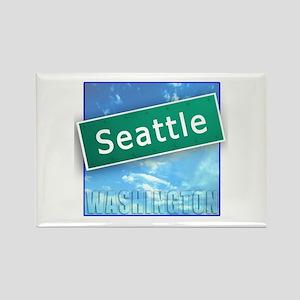 Seattle WA Street Sign Rectangle Magnet