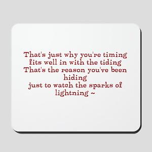 Sparks of lightning ~ Mousepad