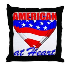 American At Heart Throw Pillow