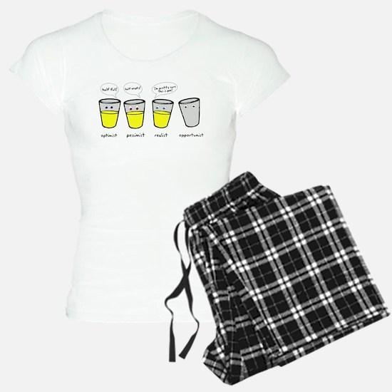 Optimist Pessimist Realist Opportunist Pajamas