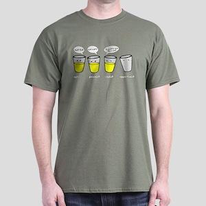 Optimist Pessimist Realist Opportunist Dark T-Shir