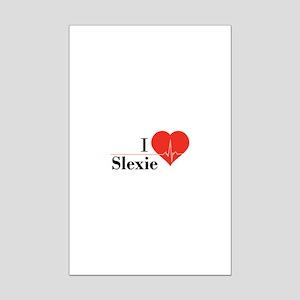 I love Slexie Mini Poster Print