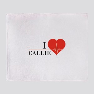 I love Callie Throw Blanket