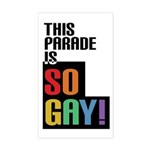 This Parade is So Gay! Sticker (Rectangle)