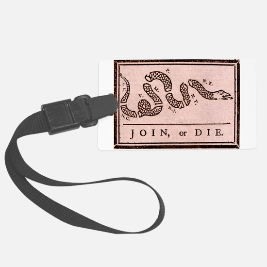 """Join, Or Die!"" Luggage Tag"