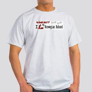 Norwegian Buhund Gifts Ash Grey T-Shirt